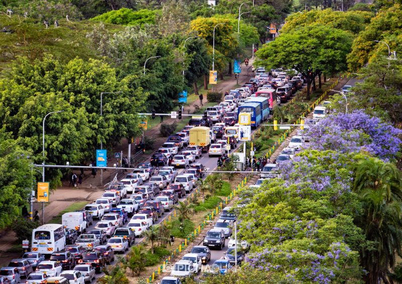 A typical evening on Nairobi's Uhuru Highway. Image Courtesy, Mwangi Kirubi