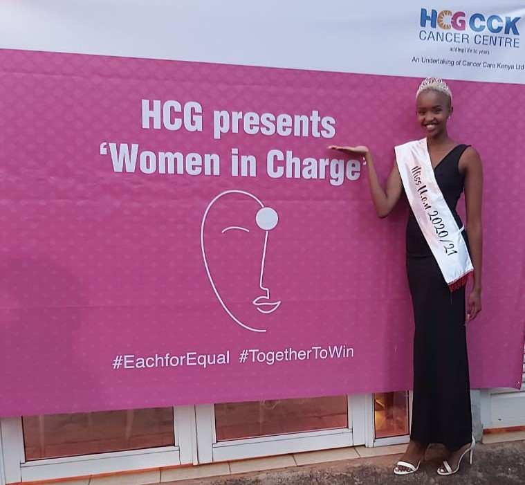 Olive at HCG Cancer Center in Nairobi, where she was a guest during the International Women's Day