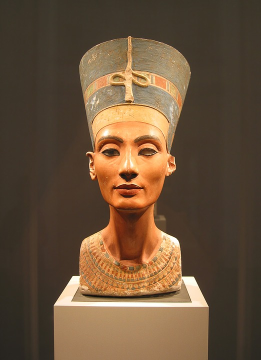 The Bust of Nefertiti is one of the most prominent sculptures from around The Late Bronze Age collapse